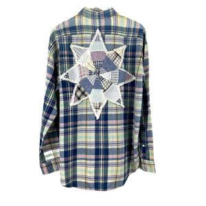 Ralph Lauren Madras Plaid Star Patchwork Shirt